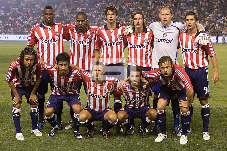 Chivas USA starting XI. Chivas USA and the LA Galaxy played to a  1-1 draw at Home Depot Center stadium, in Carson, California on Thursday, July 10, 2008.