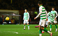 5th February 2020; Fir Park, Motherwell, North Lanarkshire, Scotland; Scottish Premiership Football, Motherwell versus Celtic; Odsonne Edouard of Celtic makes it 4-0 to Celtic from a free kick in the 80th minute