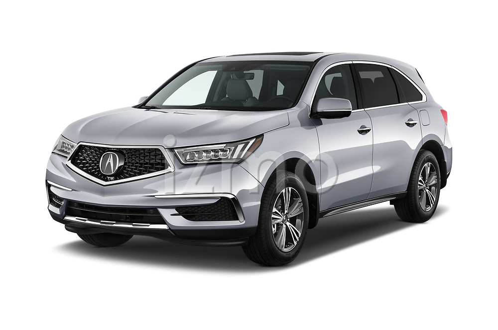 2020 Acura mdx Base 5 Door SUV angular front stock photos of front three quarter view