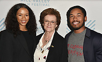 SAN RAFAEL, CA - OCTOBER 09: Taylor Russell, Zoe Elton and Kelvin Harrison Jr. arrive at the Centerpiece Film 'Waves' during the 42nd Mill Valley Film Festival at Christopher B. Smith Rafael Film Center on October 9, 2019 in San Rafael, California. Photo: imageSPACE for the Mill Valley Film Festival/MediaPunch