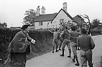 Abbots Bromley Horn Dance,  Abbots Bromley, Derbyshire England. 1973 Hobby Horse.