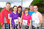 Tom Boyle Tralee, Brid Murphy Castleisland, Helen Twomey Glenflesk, Tommy Curtin Tralee, David Ladden Castlemaine and Billy Lacey Tralee keeping fit at the Milltown 10km race on Sunday..