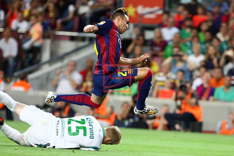 49e Trofeu Joan Gamper.<br /> FC Barcelona vs Club Leon FC: 6-0.<br /> William Yarbrough vs Munir.