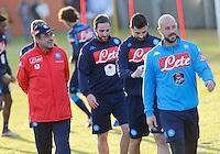 Maurizio Sarri  Gonzalo Higuain  Raul Albiol  Pepe Reina<br /> Allenamento del Napoli nel centro sportivo di CastelVolturno