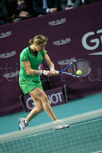 11th February 2011, Open GDF SUEZ, Stade Pierre de Coubertin, Paris, France.Kim Clijsters (BEL) qualifies for the 1/2 finals beating Jelena Dokic (AUS) 6-3 6-0.With this victory Kim Clijsters becomes the new world's tennis number 1