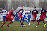 Mauro Zarate of QPR surrounded by Chicago Fire players