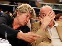 NAPOLI 15/06/2012 CONFERENZA NAZIONALE PER IL LAVORO DEL PARTITO DEMOCRATICO.NELLA FOTO SUSANNA CAMUSSO , LUIGI ANGELETTI.FOTO CIRO DE LUCA.