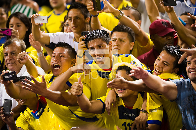Ecuador fans. Ecuador defeated Chile 3-0 during an international friendly at Citi Field in Flushing, NY, on August 15, 2012.