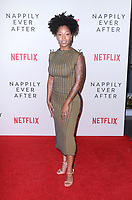 """Brittany S. Hall<br /> at the """"Nappily Ever After"""" Special Screening, Harmony Gold Theater, Los Angeles, CA 09-20-18<br /> Copyright DailyCeleb.com.  All Rights Reserved."""