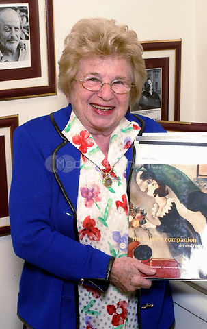 Dr. Ruth Westheimer, PhD. in Philadelphia promtoing her newest book Lovers Companion.  February 20, 2003.  © Scott Weiner /MediaPunch.