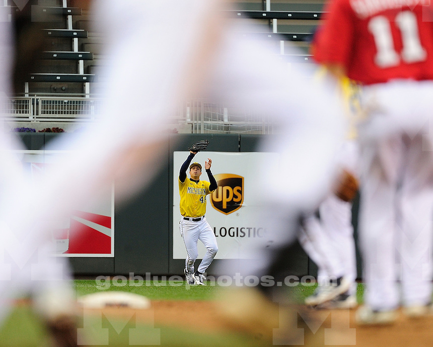 The University of Michigan baseball team lost to Nebraska, 11-2, on the first day of the Big Ten Championships at Target Field in Minneapolis, Minn., May 17, 2013.