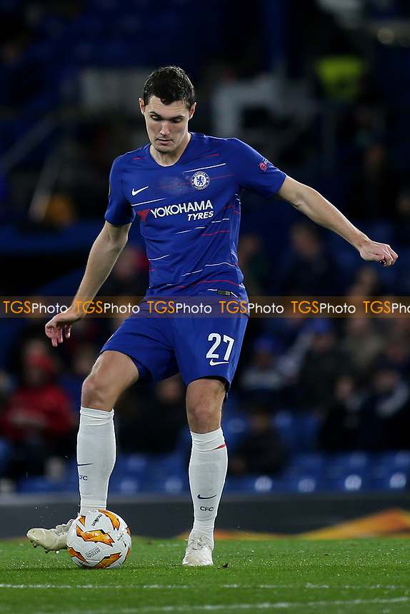 Andreas Christensen of Chelsea during Chelsea vs PAOK Salonika, UEFA Europa League Football at Stamford Bridge on 29th November 2018