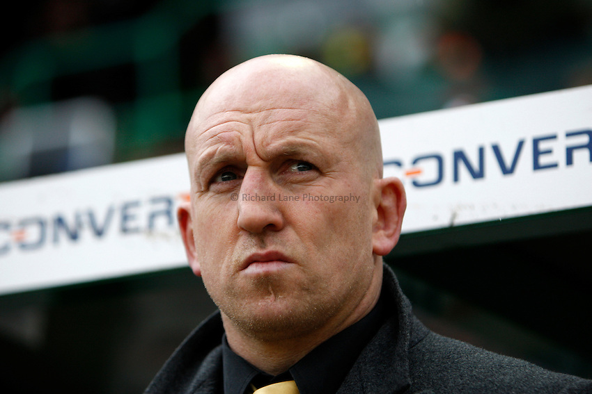 Photo: Richard Lane/Richard Lane Photography..Leicester Tigers v London Wasps. Guinness Premiership. 29/03/2008. Wasps' head coach, Shaun Edwards.