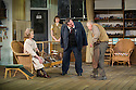 London, UK. 13.06.2014. Regent's Park Open Air Theatre presents HOBSON'S CHOICE, by Harold Brighouse. Directed by Nadia Fall. Picture shows:  Joanna David (Mrs Hepworth), Hannah Britland (Vickey Hobson), Mark Benton (Henry Hobson), Richard Syms (Tubby Wadlow). © Jane Hobson.