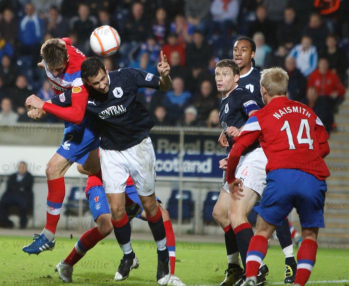 Dorin Goian heads in to score for Rangers