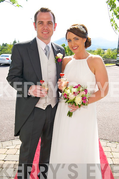 Christine Byrne, daughter of Charlie and Sheila from Kildare, and Stephen Looney, Son of Paddy and Mary from Aghadoe, Killarney who were married on June 28th in Prince of Peace Church, Fossa. Fr Harrington officiated at the ceremony. Best Man was John Looney. Bridesmaid was Claire Byrne. Flowergirls were Sophie Byrne- Looney and Roisin Jordan. Pageboy was Darragh Byrne- Looney. The reception was held at the Oaks Hotel, Killarney last Saturday night and the couple will reside in Rathanagan, Co. Killdare.