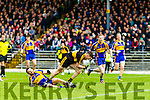 Kieran O'Leary Dr Crokes in action against Dara Crowley Kenmare District in the Senior County Football Championship final at Fitzgerald Stadium on Sunday.