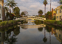 The Venice Canals Historic District in Los Angeles California