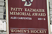The Patty Kaz banner was unveiled during the senior ceremony. - The Boston College Eagles defeated the visiting Providence College Friars 7-1 on Friday, February 19, 2016, at Kelley Rink in Conte Forum in Boston, Massachusetts.