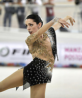 CALI – COLOMBIA – 22 – 09 – 2015: Micaela Magliocco, deportista de Argentina, Solo Danza Mayores  Damas en el LX Campeonato Mundial de Patinaje Artistico, en el Velodromo Alcides Nieto Patiño de la ciudad de Cali. / Micaela Magliocco, sportwoman from Argentina, during the Senior Solo Dance, in the LX World Championships Figure Skating, at the Alcides Nieto Patiño Velodrome in Cali City. Photo: VizzorImage / Luis Ramirez / Staff.