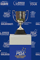The Australian PGA trophy during Round 4 of the Australian PGA Championship at  RACV Royal Pines Resort, Gold Coast, Queensland, Australia. 22/12/2019.<br /> Picture Thos Caffrey / Golffile.ie<br /> <br /> All photo usage must carry mandatory copyright credit (© Golffile   Thos Caffrey)