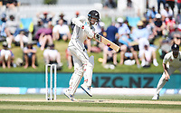 24th November 2019; Mt Maunganui, New Zealand;  Mitchell Santner batting during play on day 4 of the 1st international cricket test match, New Zealand versus England at Bay Oval, Mt Maunganui, New Zealand.  - Editorial Use