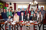 John Sheehan seated front centre from Dromeragh, Cahersiveen celebrated his 60th birthday with family at the Moorings Restaurant Portmagee on Saturday night last.