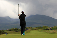 Emily Toy (ENG) on the 4th tee during the Matchplay Final of the Women's Amateur Championship at Royal County Down Golf Club in Newcastle Co. Down on Saturday 15th June 2019.<br /> Picture:  Thos Caffrey / www.golffile.ie