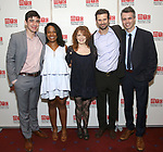 Bobby Moreno, Eboni Booth, Deirdre O'Connell, Frederick Weller and Abe Koogler attends the Opening Night photo call for 'Fulfillment Center' at New York City Center – Stage II on June 20, 2017 in New York City.