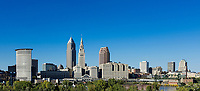 City skyline, Cleveland, Ohio, USA.