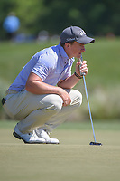 Paul Dunne (IRE) lines up his putt on 2 during round 3 of the Houston Open, Golf Club of Houston, Houston, Texas. 3/31/2018.<br /> Picture: Golffile | Ken Murray<br /> <br /> <br /> All photo usage must carry mandatory copyright credit (&copy; Golffile | Ken Murray)