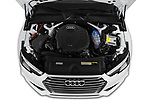 Car stock 2019 Audi A4 Premium 4 Door Sedan engine high angle detail view