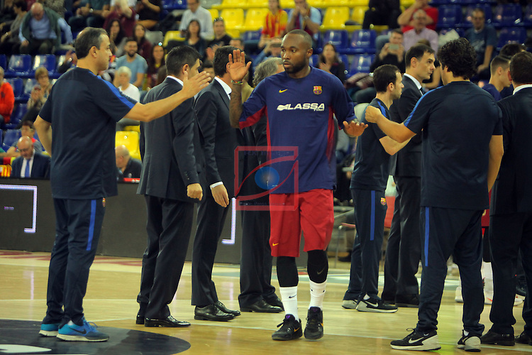 League ACB-ENDESA 2016/2017. Game: 5.<br /> FC Barcelona Lassa vs BEP-Real Betis Energia Plus: 80-58.<br /> Tyrese Rice.