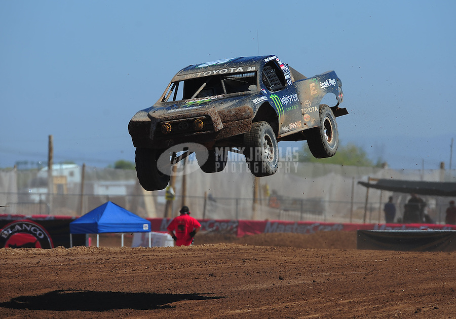 Apr 16, 2011; Surprise, AZ USA; LOORRS driver Rick Huseman (36) during round 3 at Speedworld Off Road Park. Mandatory Credit: Mark J. Rebilas-.