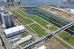 Ariake gymnastic stadium: Tokyo, Japan: Aerial view of proposed venue for the 2020 Summer Olympic Games. (Photo by AFLO)