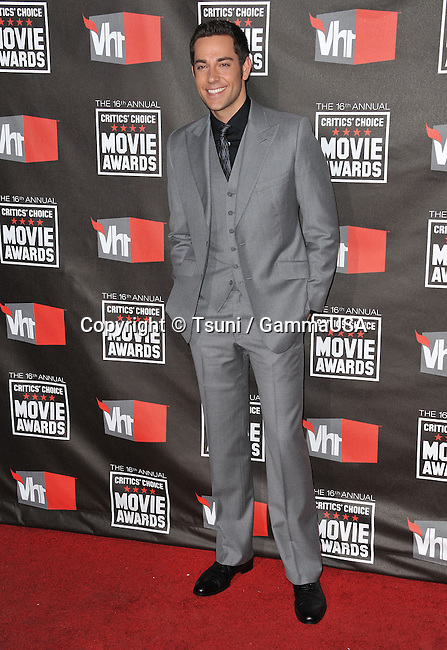 Zachary Levi - 16th Ann. Critic's Choice Movie Awards at the Hollywood Palladium in Los Angeles.