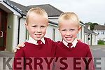 Twins Luke and Aidan Barry enjoying their first days in Knockaderry NS Farranfore.