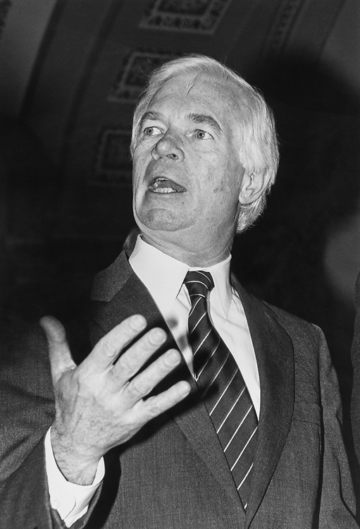 Sen. Thad Cochran, R-Miss., Senate GOP leadership candidate on Nov. 13, 1990. (Photo by Maureen Keating/CQ Roll Call via Getty Images)