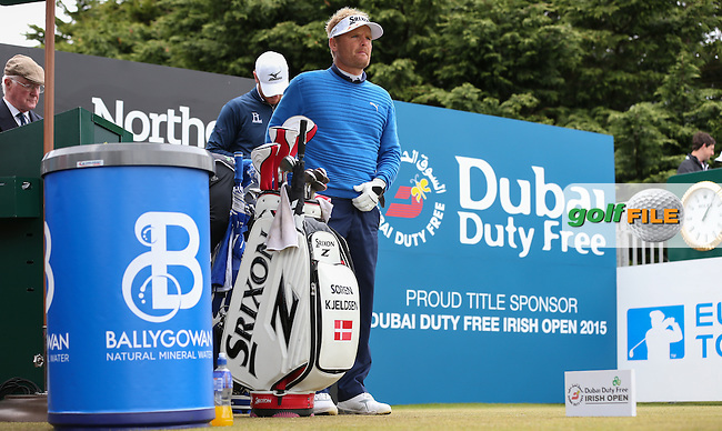 Soren Kjeldsen (DEN) on the first tee during Round Three of the 2015 Dubai Duty Free Irish Open Hosted by The Rory Foundation at Royal County Down Golf Club, Newcastle County Down, Northern Ireland. 30/05/2015. Picture David Lloyd | www.golffile.ie