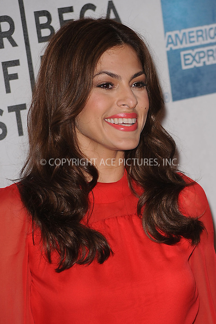 WWW.ACEPIXS.COM . . . . . .April 25, 2011...New York City...Eva Mendes attends the premiere of 'Last Night' during the 2011 Tribeca Film Festival at BMCC Tribeca PAC on April 25, 2011 in New York City....Please byline: KRISTIN CALLAHAN - ACEPIXS.COM.. . . . . . ..Ace Pictures, Inc: ..tel: (212) 243 8787 or (646) 769 0430..e-mail: info@acepixs.com..web: http://www.acepixs.com .