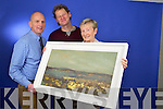 Mary Curran, Tralee who won a John Hurley Painting in the Kerry's Eye competition also in photo is Brendan Kennelly, Marketing Manager Kerry's Eye.