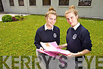 Pictured are students from Presentation Secondary School, Tralee, who sat the Leaving Certificate on Wednesday morning were twins Eilish and Breda O'Connor  (Tralee).