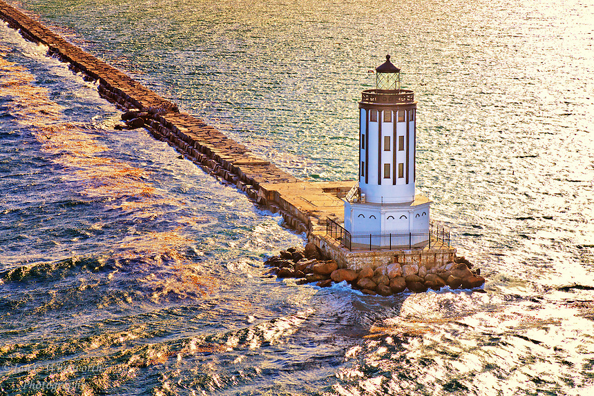 A view of the Port of LA lighthouse.
