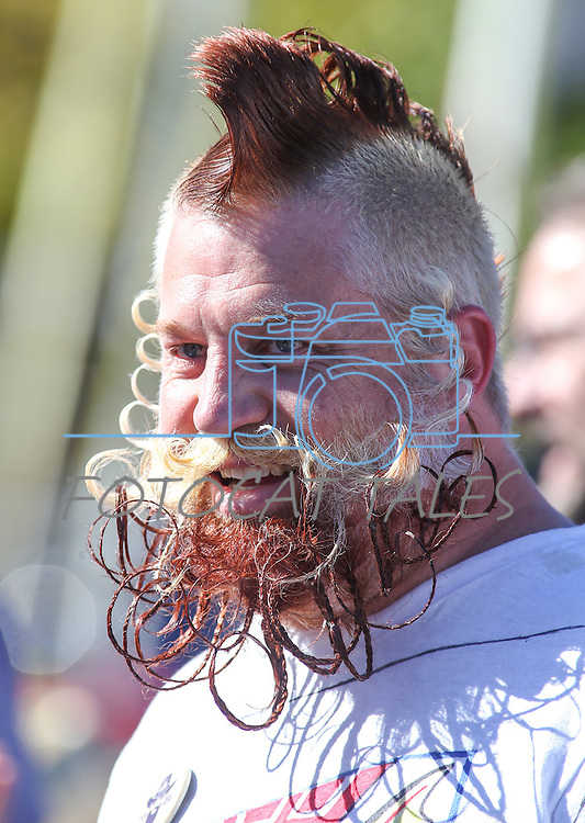 Mike Powell competes in the Nevada Day Beard Competition in Carson City, Nev., on Saturday, Oct. 31, 2015. <br /> Photo by Cathleen Allison