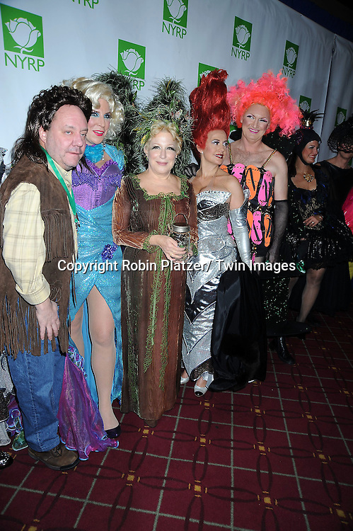 Margo and James Nederlander and Bette Midler attending the 15th Annual  Hulaween Benefit Gala at the Waldorf Astoria Hotel in New York City on October 29, 2010..The gala benefits Bette Midler's New York Restoration Project.