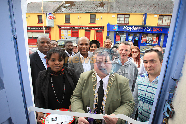 Mayor Paul Bell opening the Redemption Way Project.Picture Fran Caffrey/www.newsfile.ie