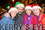 Joanne Stoat, Mike Gallagher, Ciara Stoat and Caroline Fehilly at the switching on of the Christmas lights in Killarney on Friday night.