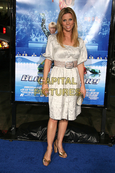 "CHERYL HINES.Attending ""Blades of Glory"" Los Angeles Premiere at Grauman's Chinese Theatre, Hollywood, California.28 March 2007..full length white dress belt.CAP/ADM/BP.©Byron Purvis/AdMedia/Capital Pictures."