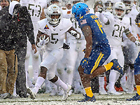 Philadelphia, PA - December 9, 2017:    Army Black Knights running back Kell Walker (5) runs the ball during the 118th game between Army vs Navy at Lincoln Financial Field in Philadelphia, PA. (Photo by Elliott Brown/Media Images International)