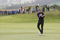 Jordan Spieth (USA) on the 3rd green during the Saturday Fourball Matches of the Ryder Cup at Gleneagles Golf Club on Saturday 27th September 2014.<br /> Picture:  Thos Caffrey / www.golffile.ie